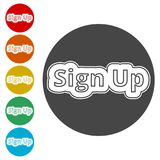 Sign up sign, Sign up icon Royalty Free Stock Images