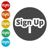 Sign up sign, Sign up icon Royalty Free Stock Photos