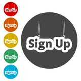Sign up sign, Sign up icon Stock Photos