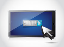 Sign up on tablet. illustration design Royalty Free Stock Photography