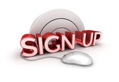Sign Up text,  3d Concept  Stock Photography