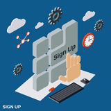 Sign up vector concept illustration Stock Photos