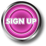 Sign up web button stock illustration