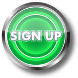 Sign up web button Stock Images