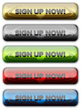 Sign Up Web Button, Signup, Register, Account. Set of Sign Up button ready for web applications Stock Image