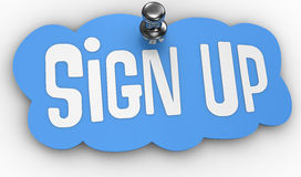 Sign Up website pin label icon Stock Photos