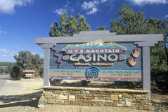 Sign for the Ute Mountain Casino Stock Photos