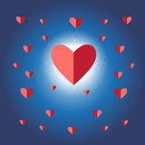 Sign vector red heart Stock Images