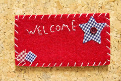 Sign velvet welcome Stock Image