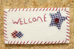 Sign velvet welcome Stock Images