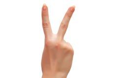 sign victory Стоковое Изображение