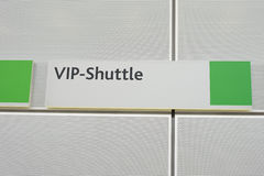 Sign with VIP shuttle with green corners Royalty Free Stock Photography