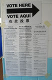 Sign at the voting site in New York Royalty Free Stock Images