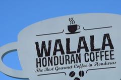 Sign Walala Honduran Coffee royalty free stock image