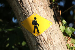 Sign for walkers Stock Image