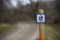 Sign for walking path Stock Images