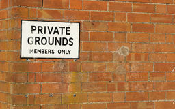 Sign and wall Royalty Free Stock Photo