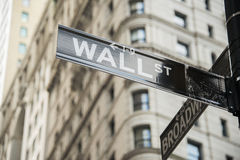 Sign on the Wall Street Royalty Free Stock Images