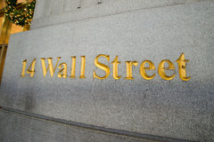 Sign on the Wall Street Royalty Free Stock Photo