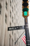 The sign on the wall street Stock Photos