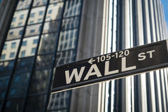 Sign for Wall Street, New York Royalty Free Stock Images