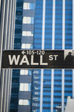 Sign for Wall Street, New York Royalty Free Stock Photos