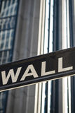 Sign for Wall Street, New York Royalty Free Stock Photo