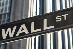Sign for Wall Street, New York Stock Images