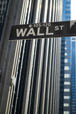 Sign for Wall Street, New York. Sign for Wall Street in New York City royalty free stock image