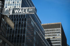 Sign for Wall Street, New York Stock Photos