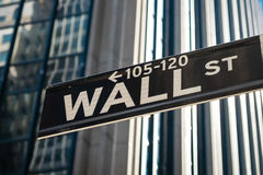 Sign for Wall Street in New York City. Wall Street sign in New York City Royalty Free Stock Image