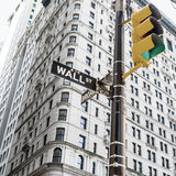 Sign for Wall Street New York City Stock Image