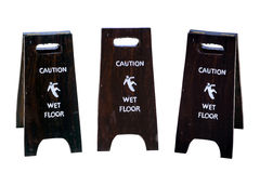 Sign warning of caution wet floor Royalty Free Stock Image