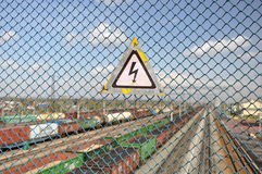 The sign warning of danger. Royalty Free Stock Photography