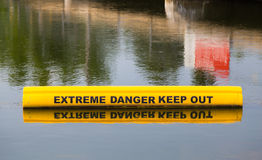 Sign Warning of Extreme Danger Royalty Free Stock Images