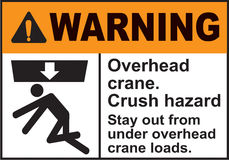 Sign Warning Overhead crane in Vector Royalty Free Stock Photo