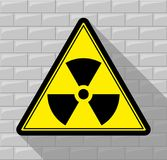 Sign warning about radiation. Stock Photography