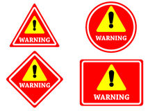 Sign warning red color isolated Royalty Free Stock Photo