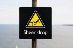 Sheer Drop Sign Royalty Free Stock Image