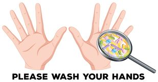A Sign of Washing Hands royalty free illustration