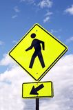 Sign - WATCH PEDESTRIANS Royalty Free Stock Images