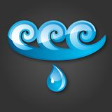 Sign of Water Blue-gray background. 10 EPS Royalty Free Stock Photos