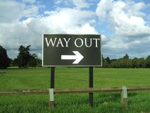 Sign. way out. way out sign Royalty Free Stock Photos