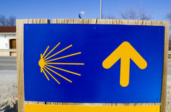Sign of Way of Santiago. Spain Stock Images