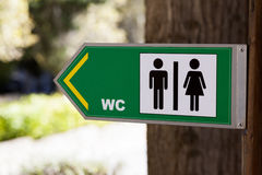 Sign for WC Royalty Free Stock Photo