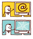 At sign & web stock illustration