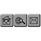 Sign web button Royalty Free Stock Photo