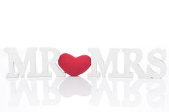 Sign for wedding Mr & Mrs Royalty Free Stock Image