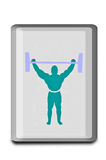 The Sign of weightlifter Stock Images