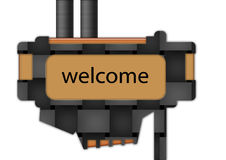 Sign - Welcome. Sign spelling the word welcome Royalty Free Stock Photos